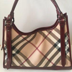 Authentic women's Burberry hobo bag